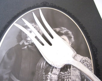 Antique Chipped Beef Fork, Carolina 1914 by Holmes Edwards Silverplate