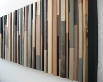 Wooden Wall Art in Earth Tones for Rustic Décor