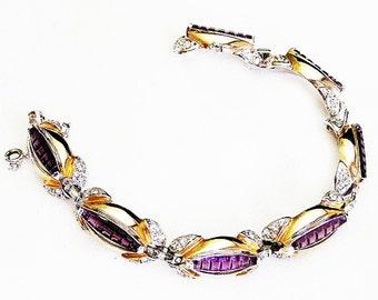 Reja Invisible Set Amethyst Bracelet