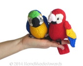 Salt the Red Little PARROT Pdf Email Knit PATTERN