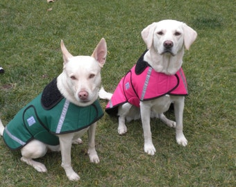 Dog Raincoats-ranging from 20 dollars to 50 dollars depending on the size by Doodlebug Duds