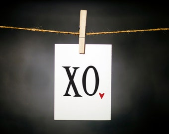sweet valentine // hugs and kisses // xo // simple love card // valentine // anniversary card