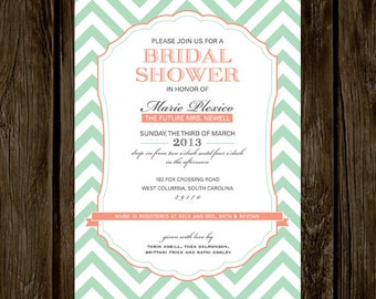 Chevron Bridal Shower Invitation