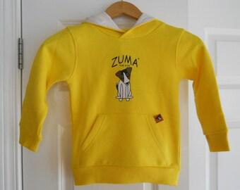 Hooded sweatshirt with Dog print