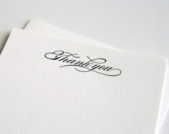 Letterpress Stationery Set - Thank You cards - Simple Thanks - 10 cards