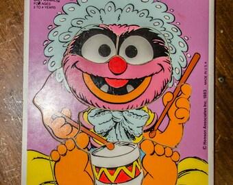 Vintage 1983 Muppet Baby Animal Playskool Wood Puzzle