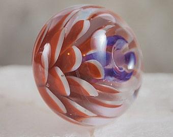 Autumn Mum- flower focal bead