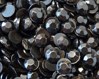 1000 5mm Acrylic Round Crystal Rhinestones Flat Back SS20 N70-6 Black