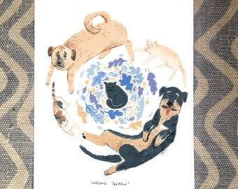 Animal GROUP Portrait Illustrations