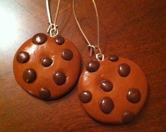 Chocolate Chip Polymer Cookie Earrings by Lauri Jon Studio City™