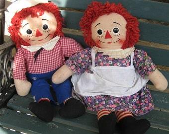 Knickerbocker Talking Raggedy Ann & Andy Dolls