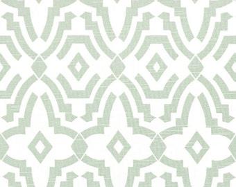 "Fabric shower curtain, Chevelle Artichoke Slub cotton print, 72"", 84"", 90"", 96"", 108"" custom sizes available"