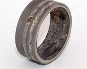 wedding rings, titanium rings, wood rings, mens rings, Titanium Wedding Bands, Eco-Friendly Rings, Wedding Rings - ONYX