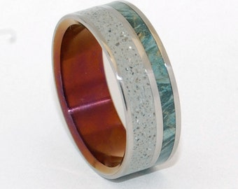 wedding rings, titanium rings, wood rings, mens rings, concrete ring, Eco-Friendly Wedding Rings, Wedding Rings - RED EARTH