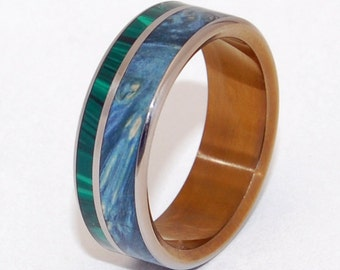 wedding ring, titanium rings, wood rings titanium wedding ring, men's ring, women's ring - ANTIGONE