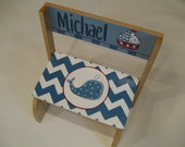 Hand Painted Boys Step stool