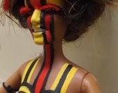 RESERVED 4 MELISSA ooak scary spice barbie as a tribal medicine woman
