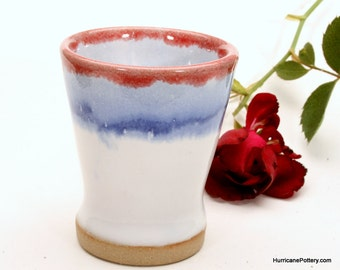 Espresso Shot Glass Red White & Blue Barware