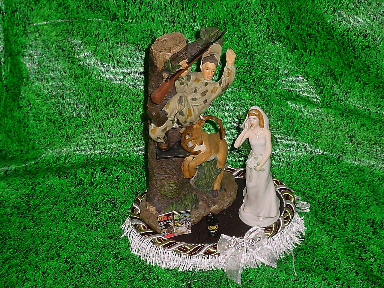 Deer chase Redneck Hunter Groom Stand by your Man Camo Wedding