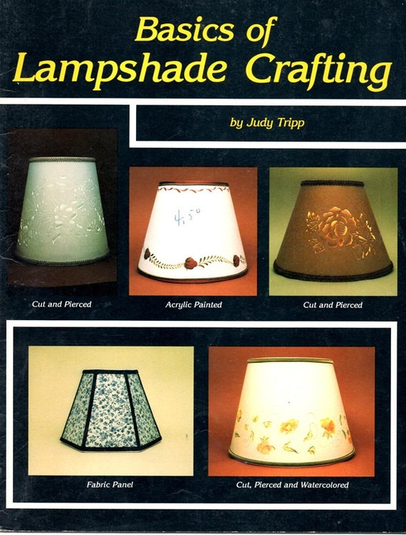 Basics of Lampshade Crafting How To Learn To Make Construct Pattern to Fit Frame Round Octagonal Cut Paper Painted Craft Pattern Leaflet