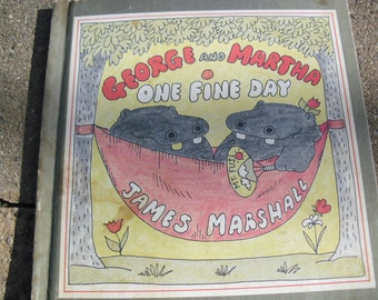 Vintage Book George and Martha One Fine Day by James Marshall