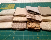 PRICE REDUCED! Beige Quilters Cotton, Bundle #1, 20 Quarter Yards assorted