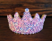 Irridescent Pink Sequin Princess Tiara