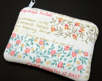 RS Flowers - Zipper pouch / coin purse (padded) (ZS-116)