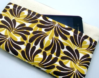 RS Large Zipper Pouch, Pencil Pouch, Gadget Bag, Cosmetic Bag, with a front pocket, Brown fountain (ZL-23)