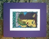 Hathor Matted Print