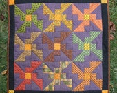 Hallowe'en/Autumn Mini Bat Quilt