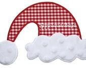 156 Santa Hat Machine Embroidery Applique Design