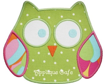 023 Owl Machine Embroidery Applique Design