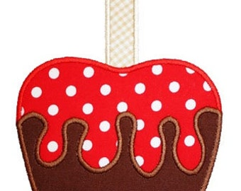 172 Candy Apple Machine Embroidery Applique Design