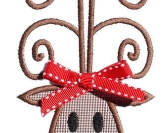 045 Rudolph Machine Embroidery Applique Design