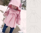 Chic Cocktail Swing Coat pattern and tutorial 12M-5T holiday jacket PDF