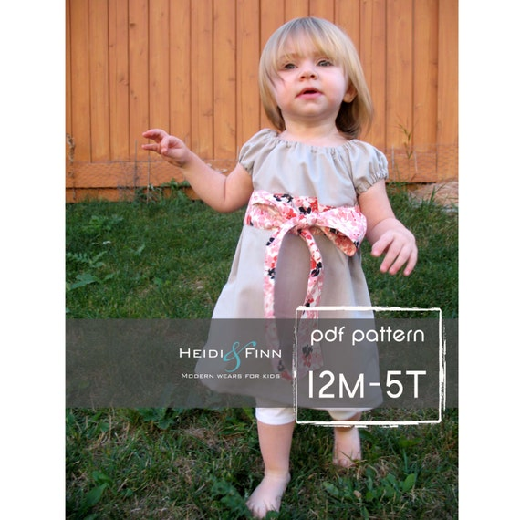 The Perfect Little Party Dress pattern and tutorial 12M-5T EASY SEW two ways to wear it