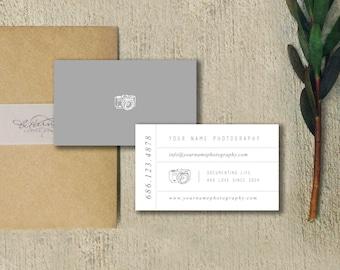 Photographer Business Card Design - Photography Templates - INSTANT DOWNLOAD - PSD Design - c0026