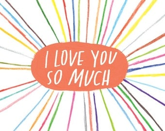 SALE: I Love You So Much card