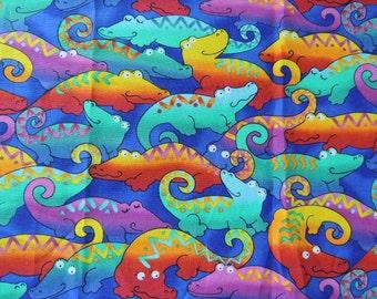 1 Colorful Alligator Fat Quarter