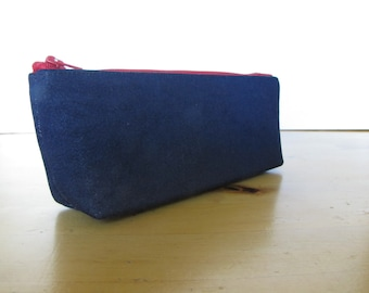 Denim Pencil Case - Back to School - Hold All, Eyeglass Case