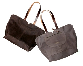 Leather tote, big leather bag, Women bag , The perfect all day tote bag by Ayelet Shachar
