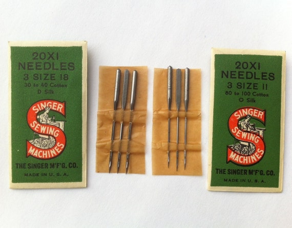 vintage singer sewing machine needles
