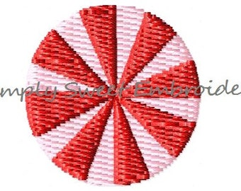 Peppermint Candy Mini Machine Embroidery Design
