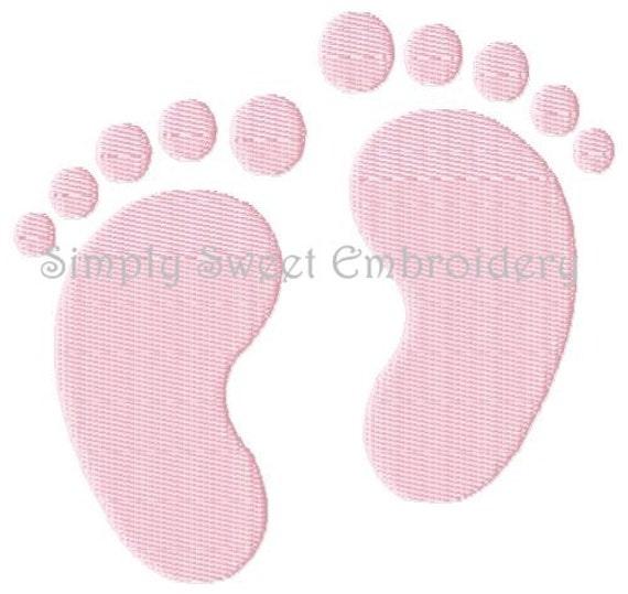 Baby Feet / Footprints Machine Embroidery Design