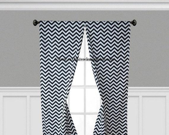 Curtains Ideas curtain rod ring clips : Black and White Curtain Panels Black Chevron Curtains Drapes Drapery ...