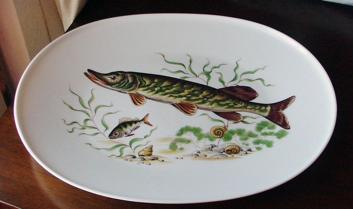 Fish Platter JWK Potteries West Germany Fine By
