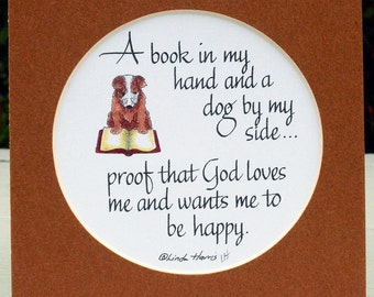 A Book and a Dog - God Wants Me To Be Happy