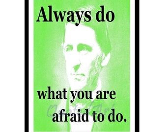 Ralph Waldo EMERSON Quoted Art print