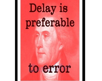President THOMAS JEFFERSON Quoted Art print delay or error